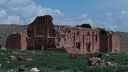 The ruins of Yererouk Basilica in Anipemza