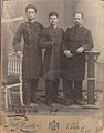 Yitzhak Nofech with his brother Max and a friend, 6 Feb 1902.jpg