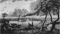 York, Upper Canada, from Gibraltar Point, drawn by James Gray, in 1828.png