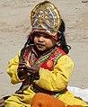 Young Girl in Ceremonial Dress - Magh Mela Festival - Sangam Site - Allahabad - Uttar Pradesh - India (12588987865).jpg