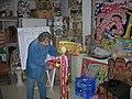 Yvon Taillandier dans son atelier 2008 Paris - Photo Frédéric Elin - frederic.elin@laposte.net.jpg