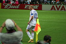6c4302d13 Zidane during the 2006 World Cup Final