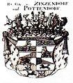 Zinzendorf und Pottendorf Grafen Wappen s-w.jpg