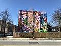 """Love in Search of a Word"" (2011; Joel Bergner, artist), 436 E. Lafayette Avenue, Baltimore, MD 21202 (49256527827).jpg"