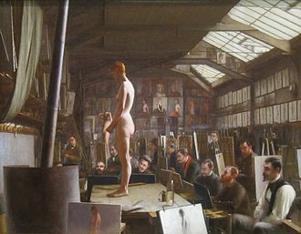 Académie Julian - Image: 'Bouguereau's Atelier at Académie Julian, Paris' Jefferson David Chalfant
