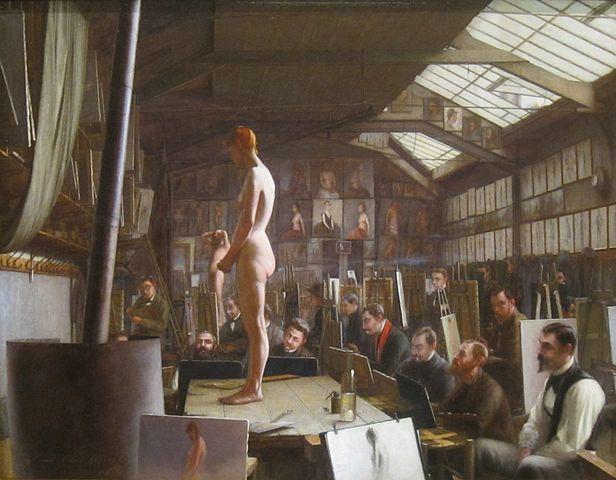 Джефферсон Дэвид Чалфэн. Мастерская Бугро в Академии Жюлиана. 1891, Мемориальный музей де Янга, Сан-Франциско