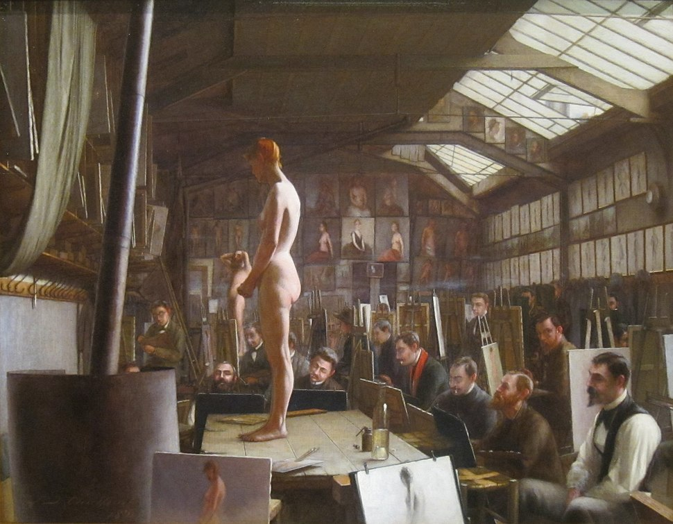 'Bouguereau's Atelier at Académie Julian, Paris' Jefferson David Chalfant