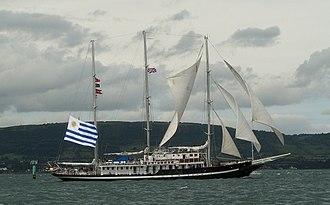 Capitan Miranda (ROU schooner) - Capitán Miranda at Tall Ships Belfast, 2009