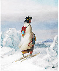 Cornelius Krieghoff - Indian Woman Moccasin Seller
