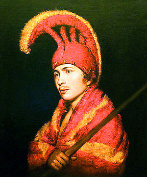 Mahiole - Image: 'Man Wearing Feather Cloak and Helmit', oil on canvas painting attributed to Rembrandt Peale