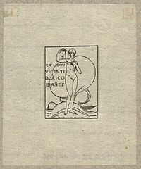 (Bookplate of Spanish writer, Vicente Blasco Ibañez) (LOC) (15423159837).jpg