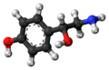 (R)-Octopamine molecule ball.png