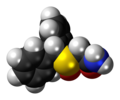 (S)-Modafinil molecule spacefill.png