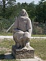 Ádám Würtz elementary school. Listed ID -3520. South wing's yard. Statue. - Szabadság street, Tamási, Hungary.JPG