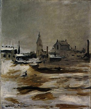 Effect of Snow on Petit-Montrouge - Image: Édouard Manet Effet de neige à Petit–Montrouge
