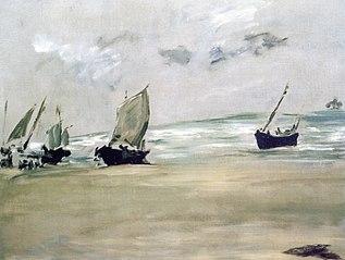 Plage de Berck-sur-mer à marée basse