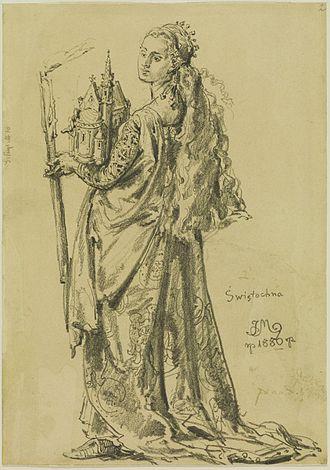 Świętosława of Poland - Świętosława depicted by Jan Matejko, 1886.