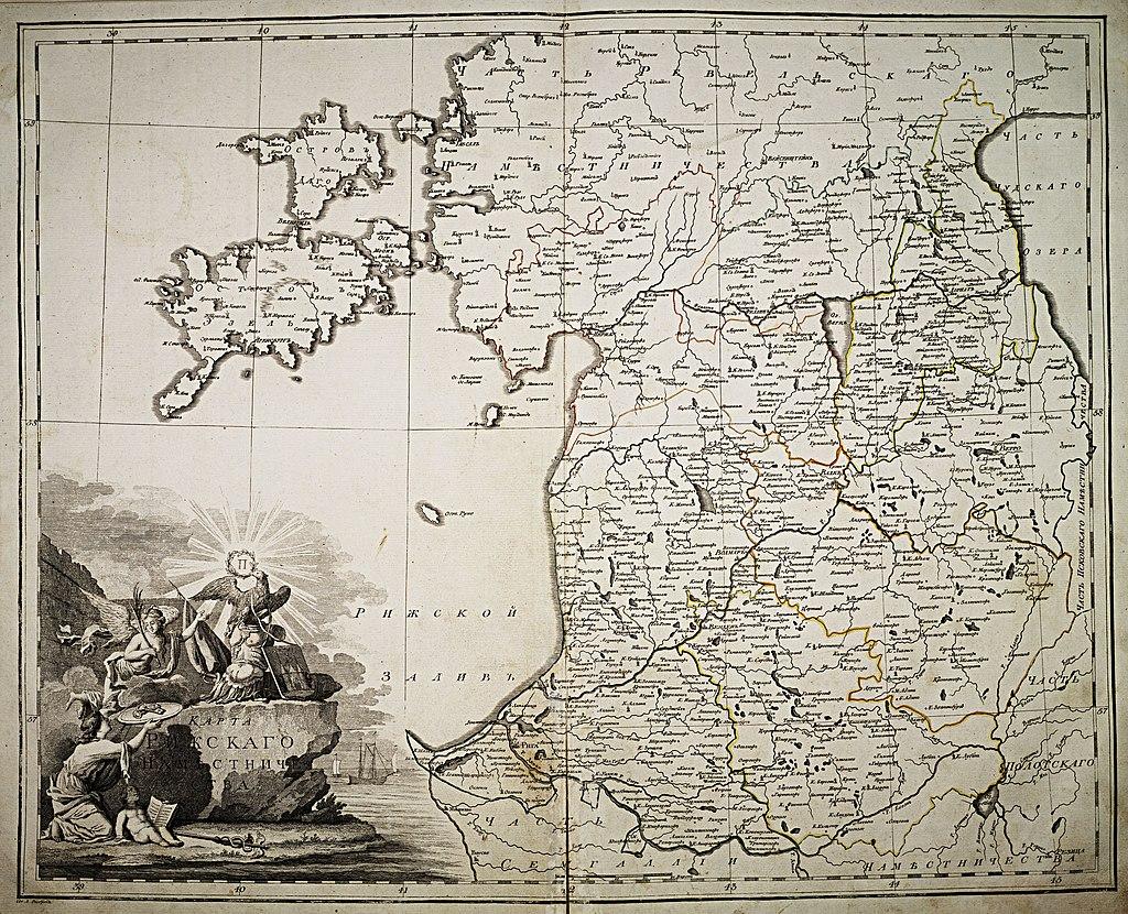 Рижская губерния на карте