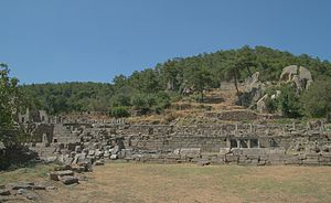 Labraunda - Labraunda was built on artificial terraces