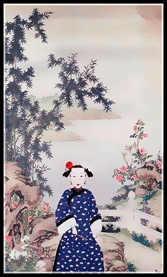 Empress Xiaoshencheng - Image: 清 佚名 《孝慎成皇后行乐图》