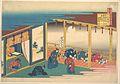 百人一首 うばがゑとき 三条院-Poem by Sanjō-in, from the series One Hundred Poems Explained by the Nurse (Hyakunin isshu uba ga etoki) MET DP141105.jpg
