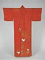 鶏柄小袖-Kosode Robe with Roosters and Hens MET DP277431.jpg
