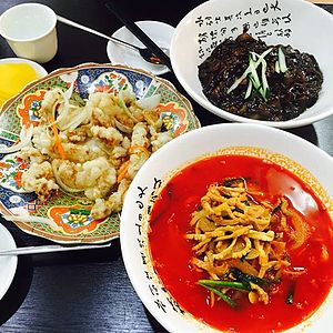 Incheon Chinatown - Noodles with Black Soybean Sauce(Jajangmyeon)