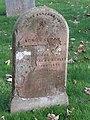 -2019-11-13 Headstone of Agnes Sarah Hewitt, died February 1888 age 2, Trimingham churchyard.JPG