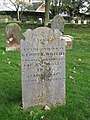 -2019-11-13 Headstone of George Wright, died January 24 1854, Trimingham churchyard.jpg
