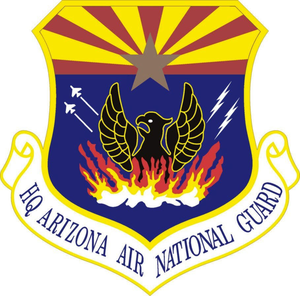 Patch of the U.S. Arizona Air National Guard.