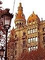 011 Cases Rocamora, pg. de Gràcia - c. Casp (Barcelona), torre i tribunes.jpg