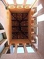 013 Museu de Tortosa, antic escorxador, torre des de l'interior.JPG
