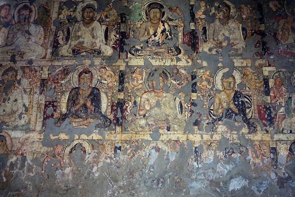 027 Cave 19, Buddha Paintings (34219246102)