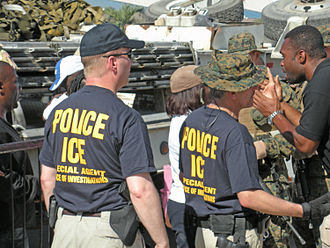 U.S. Immigration and Customs Enforcement - HSI special agents aiding with rescue effort for the 2010 Haiti earthquake