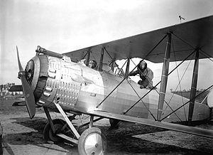 Flin Aerodrome - Newly received 12th Aero Squadron Salmson 2A2