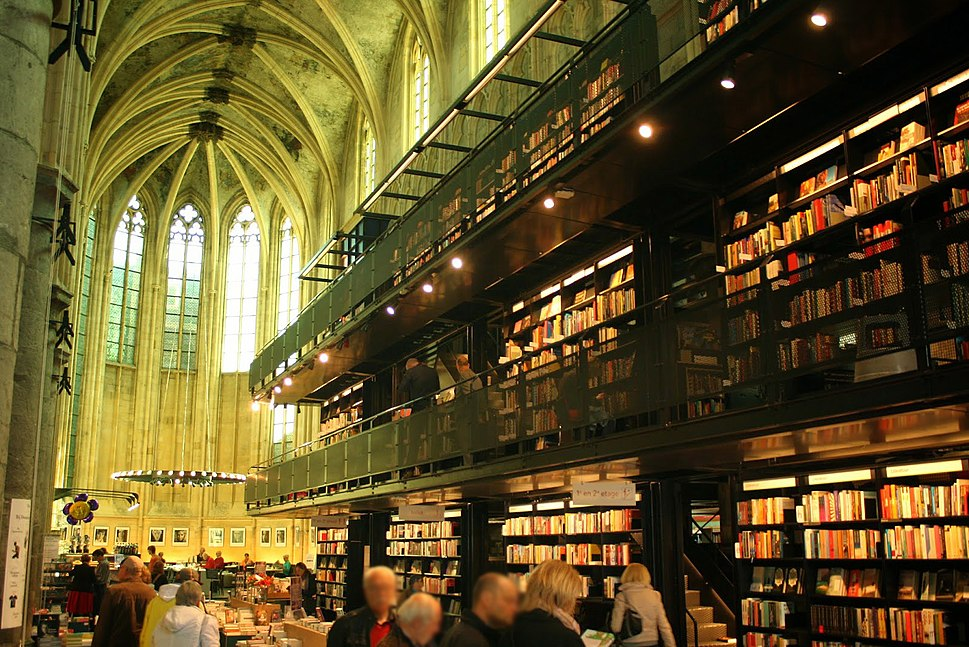 13th century Dominican church converted into a bookstore in Maastricht, the Netherlands