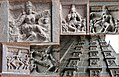 13th century collage of Natya Sastra dance mudra on Chidambaram Nataraja temple eastern gopura.jpg