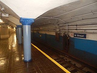14th Street station (PATH) Port Authority Trans-Hudson rail station