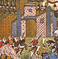 1522-Sultan Suleiman during the Siege of Rhodes-Suleymanname-DetailTopLeft.jpg