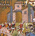 1522-Sultan Suleiman during the Siege of Rhodes-Suleymanname-DetailTopLeft.jpg