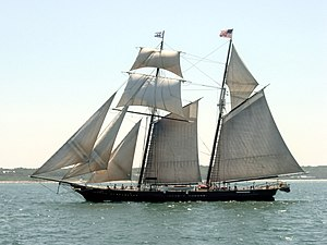 Shenandoah (schooner) - Image: 17 11 19 SHENANDOAH Square Sail Schooner 05 07 20