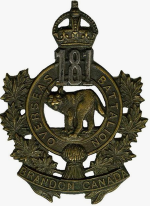 181st Battalion (Brandon), CEF - 181st CEF Battalion Hat badge