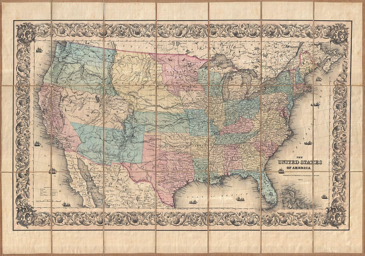 File:1855 Colton Pocket Map of the United States ...