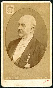 1874 Carte de Visite Georg V., König von Hannover roi de Hanover King of Hanover, Wappen T, Nadar Bildseite