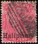 1889ca Halfpenny Tasmania oval Yv47 Mi42 SG167.jpg