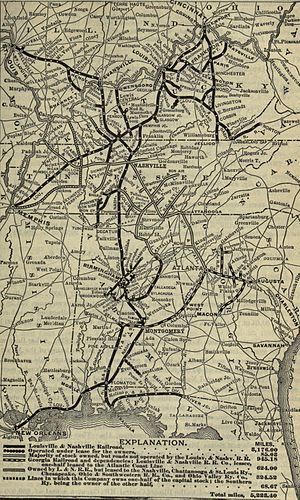 Louisville and Nashville Railroad - Image: 1901 Poor's Louisville and Nashville Railroad