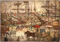 1904 Docks EastBoston byPrendergast NationalGallery.png