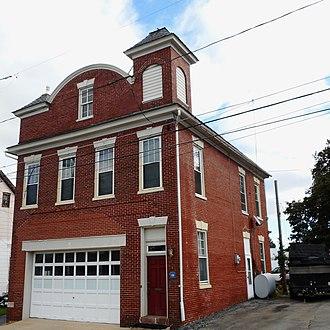 Mountville, Pennsylvania - Image: 1907 Firehouse Mountville PA Lan Co