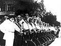 1930-е. Стахановцы Сталино – участники велопробега до Кузбасса.jpg