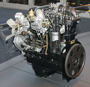 Toyota L engine - Toyota 2L-TE engine from 1982